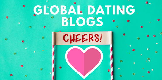 header image for the top dating blogs with a heart and cheers sign